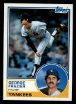 1983 Topps #123   George Frazier Front Thumbnail