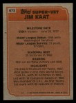 1983 Topps #673  Super Veteran  -  Jim Kaat Back Thumbnail