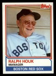 1983 Topps #786  Ralph Houk  Front Thumbnail