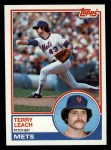 1983 Topps #187   Terry Leach Front Thumbnail