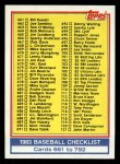 1983 Topps #769  Checklist  Front Thumbnail