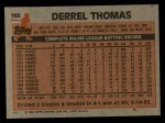 1983 Topps #748   Derrel Thomas Back Thumbnail