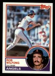 1983 Topps #158  Rob Wilfong  Front Thumbnail