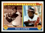 1983 Topps #201   -  Rod Carew Super Veteran Front Thumbnail