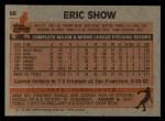 1983 Topps #68   Eric Show Back Thumbnail