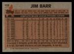 1983 Topps #133   Jim Barr Back Thumbnail