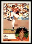 1983 Topps #133   Jim Barr Front Thumbnail