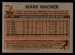 1983 Topps #144  Mark Wagner  Back Thumbnail