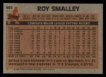 1983 Topps #460  Roy Smalley  Back Thumbnail