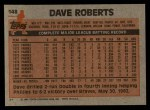 1983 Topps #148  Dave Roberts  Back Thumbnail