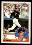 1983 Topps #84  Milt May  Front Thumbnail