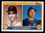1983 Topps #161  Super Veteran  -  Dave Kingman Front Thumbnail