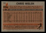 1983 Topps #118   Chris Welch Back Thumbnail