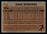 1983 Topps #94  Dave Edwards  Back Thumbnail
