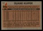 1983 Topps #767   Duane Kuiper Back Thumbnail