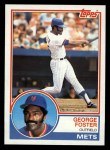 1983 Topps #80  George Foster  Front Thumbnail