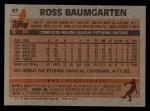 1983 Topps #97   Ross Baumgarten Back Thumbnail