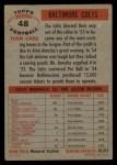 1956 Topps #48  Colts Team  Back Thumbnail
