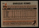 1983 Topps #226   Enrique Romo Back Thumbnail