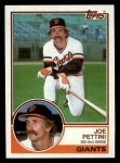 1983 Topps #143   Joe Pettini Front Thumbnail