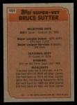 1983 Topps #151  Super Veteran  -  Bruce Sutter Back Thumbnail