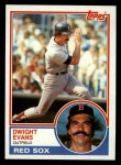 1983 Topps #135  Dwight Evans  Front Thumbnail