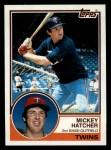 1983 Topps #121  Mickey Hatcher  Front Thumbnail