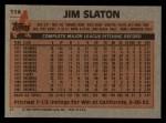 1983 Topps #114  Jim Slaton  Back Thumbnail