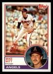 1983 Topps #53   Mike Witt Front Thumbnail