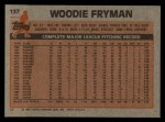1983 Topps #137   Woody Fryman Back Thumbnail