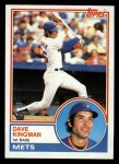 1983 Topps #160  Dave Kingman  Front Thumbnail