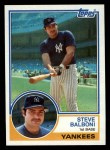 1983 Topps #8   Steve Balboni Front Thumbnail
