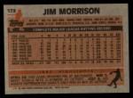 1983 Topps #173  Jim Morrison  Back Thumbnail