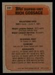 1983 Topps #241  Super Veteran  -  Goose Gossage Back Thumbnail