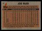 1983 Topps #87   Joe Rudi Back Thumbnail