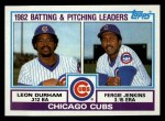 1983 Topps #51   -  Fergie Jenkins / Leon Durham Cubs Leaders Front Thumbnail