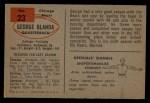 1954 Bowman #23  George Blanda  Back Thumbnail