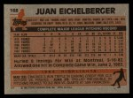 1983 Topps #168  Juan Eichelberger  Back Thumbnail