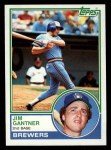 1983 Topps #88  Jim Gantner  Front Thumbnail