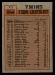 1983 Topps #771  Twins Leaders  -  Kent Hrbek / Bobby Castillo Back Thumbnail
