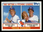 1983 Topps #412  Rangers Leaders  -  Buddy Bell / Charlie Hough Front Thumbnail