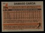 1983 Topps #222   Damaso Garcia Back Thumbnail