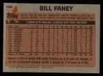 1983 Topps #196   Bill Fahey Back Thumbnail