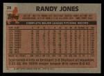 1983 Topps #29  Randy Jones  Back Thumbnail
