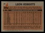 1983 Topps #89   Leon Roberts Back Thumbnail