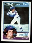 1983 Topps #83   Ryne Sandberg Front Thumbnail