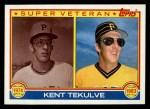 1983 Topps #18   -  Kent Tekulve Super Veteran Front Thumbnail