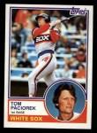 1983 Topps #72   Tom Paciorek Front Thumbnail