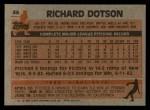 1983 Topps #46   Rich Dotson Back Thumbnail