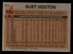 1983 Topps #775  Burt Hooton  Back Thumbnail